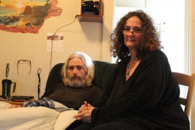 Don Brown and Debora Bronson in their apartment.