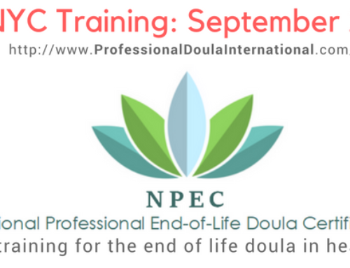 End-of-Life Doula Training Event