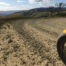 Motorcycle on dirt road